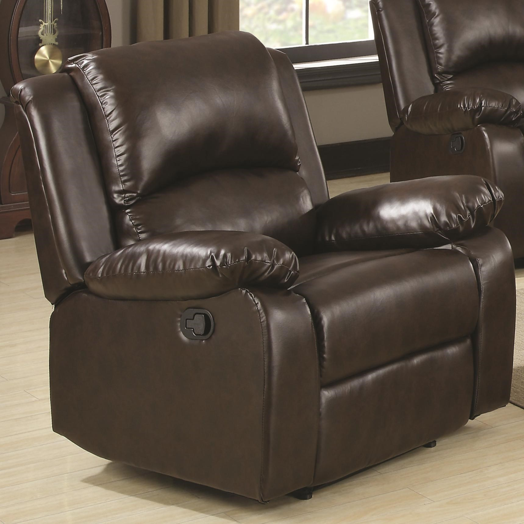 Recliner Pillow Boston Casual Recliner With Pillow Arms By Coaster At Value City Furniture